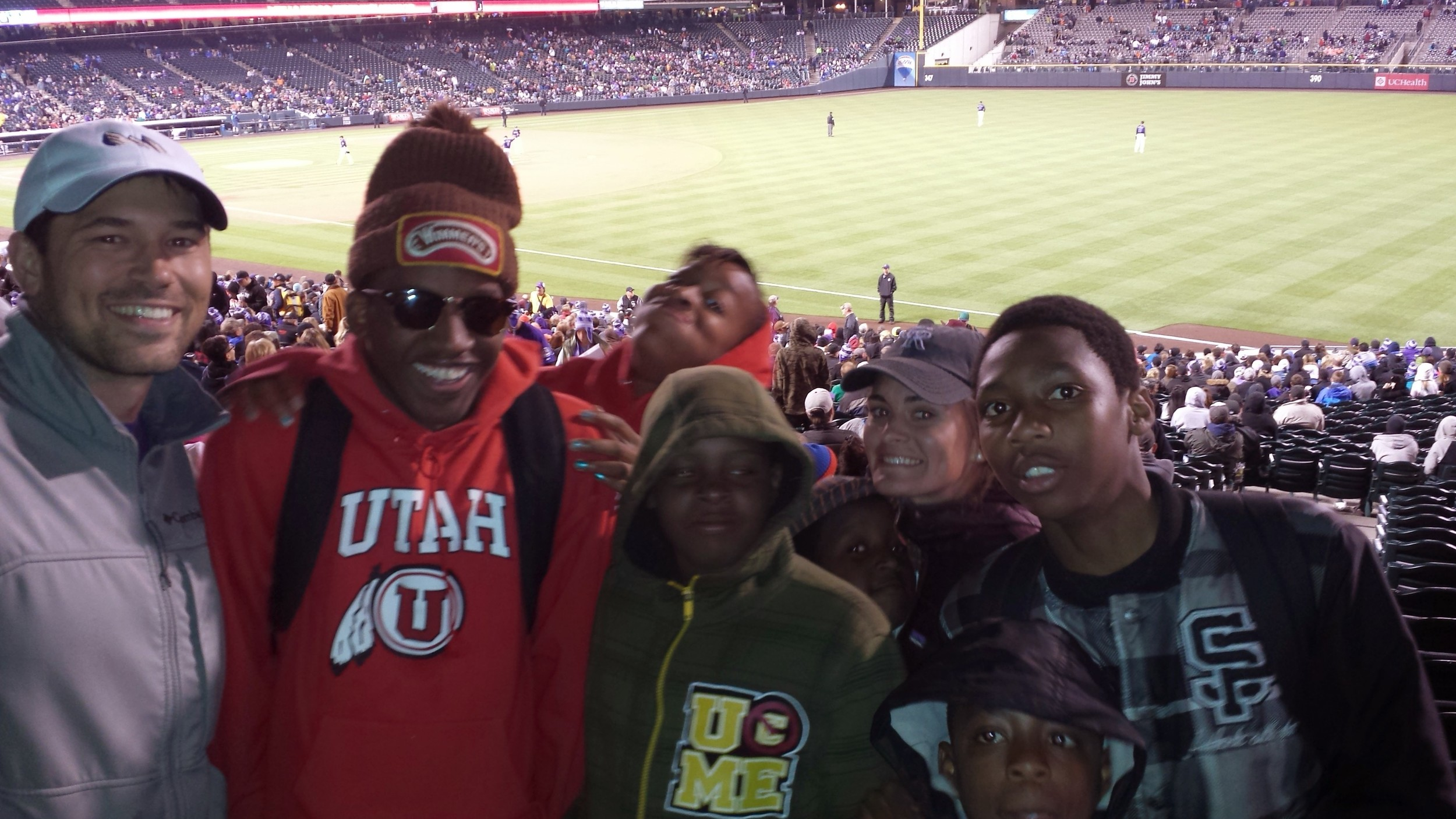 Rockies Game: Jordan with kids from Sun Valley (Pilot Community)
