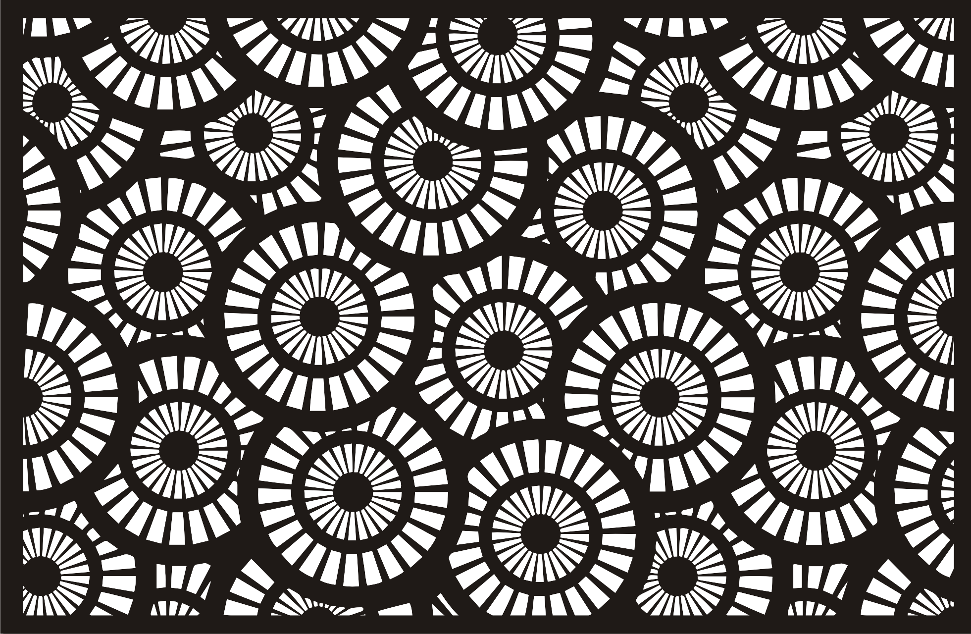 Lasergram Cerchi - Wall Decor - Black Acrylic