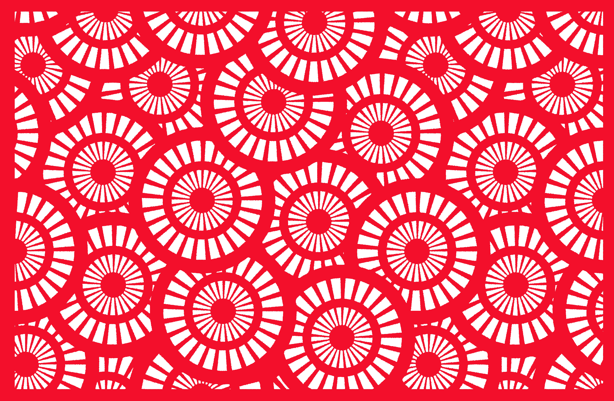 Lasergram Cerchi - Wall Decor - Red Acrylic