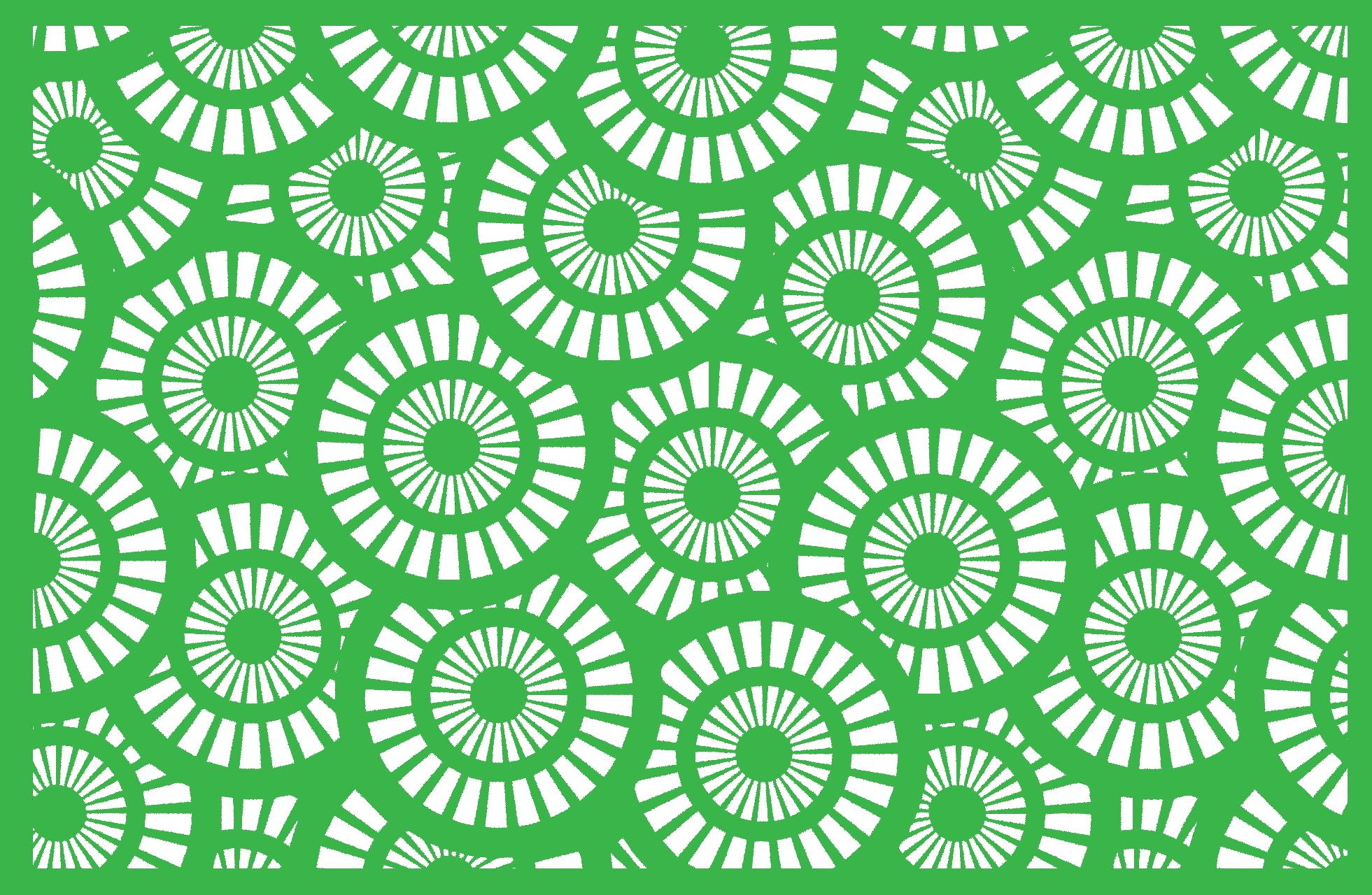 Lasergram Cerchi - Wall Decor - Green Acrylic