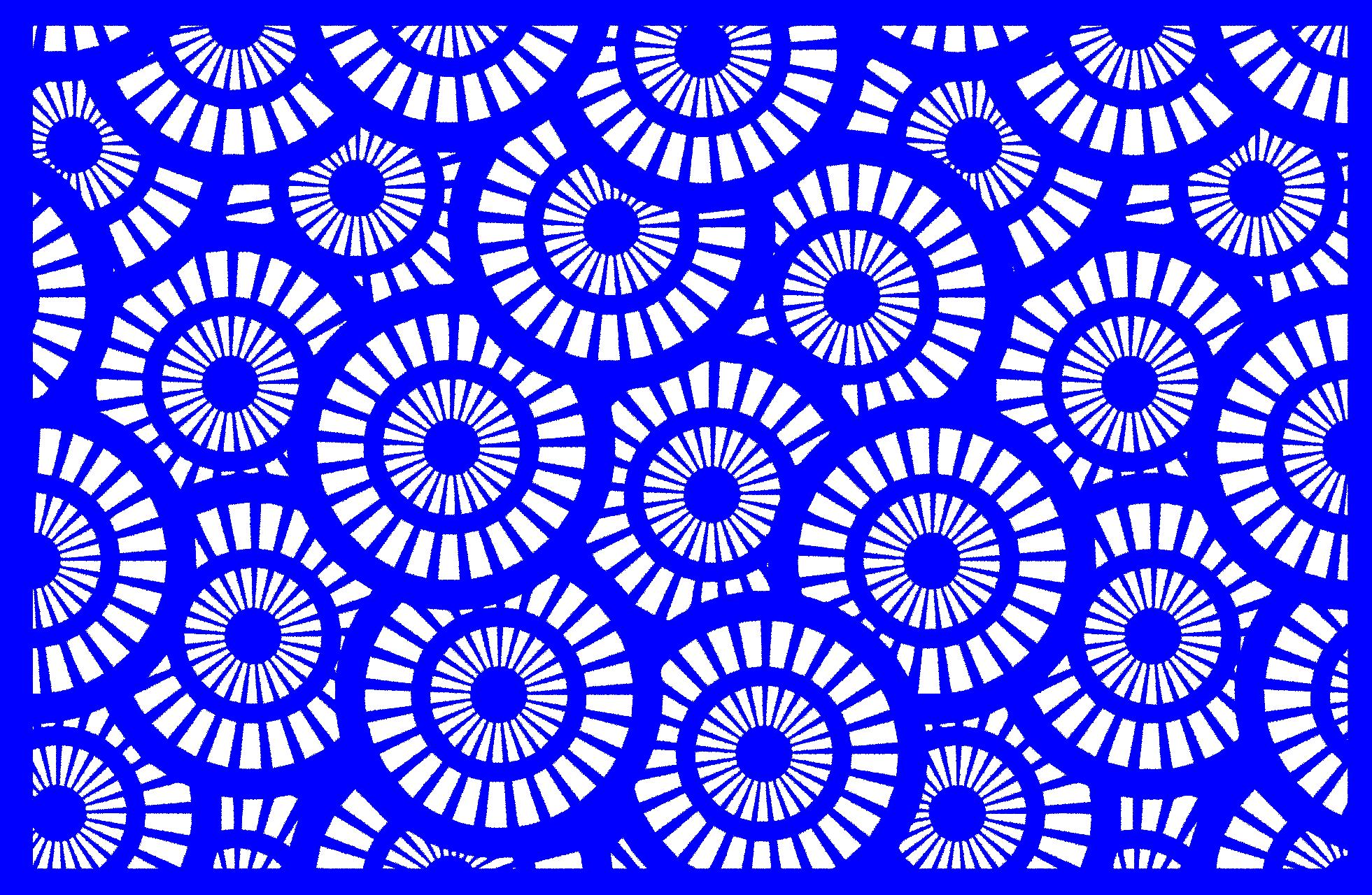 Lasergram Cerchi - Wall Decor - Blue Acrylic