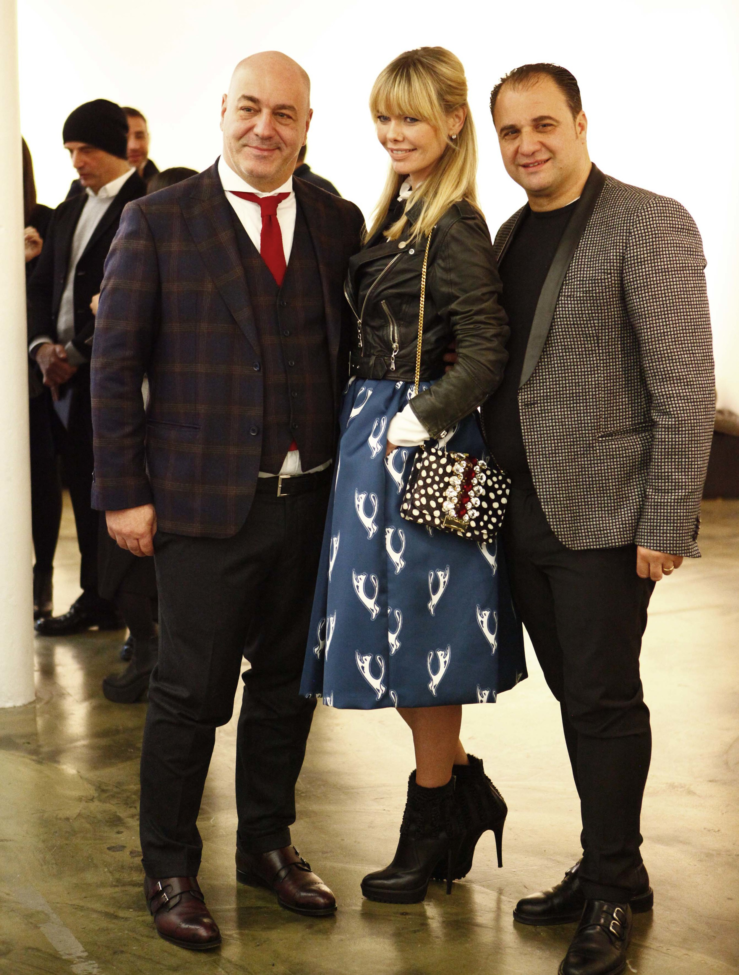 Here together with Salvatore Toma and Sergio Toma, owners ofVe.An Fashion.