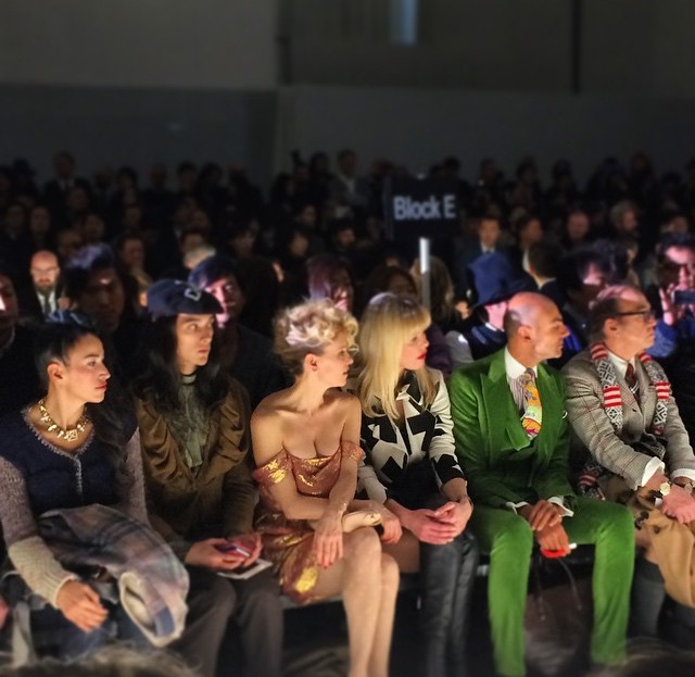 an amazing show....frontrow with Justine Mattera and Enzo Micccio. ph by the eyes fashion