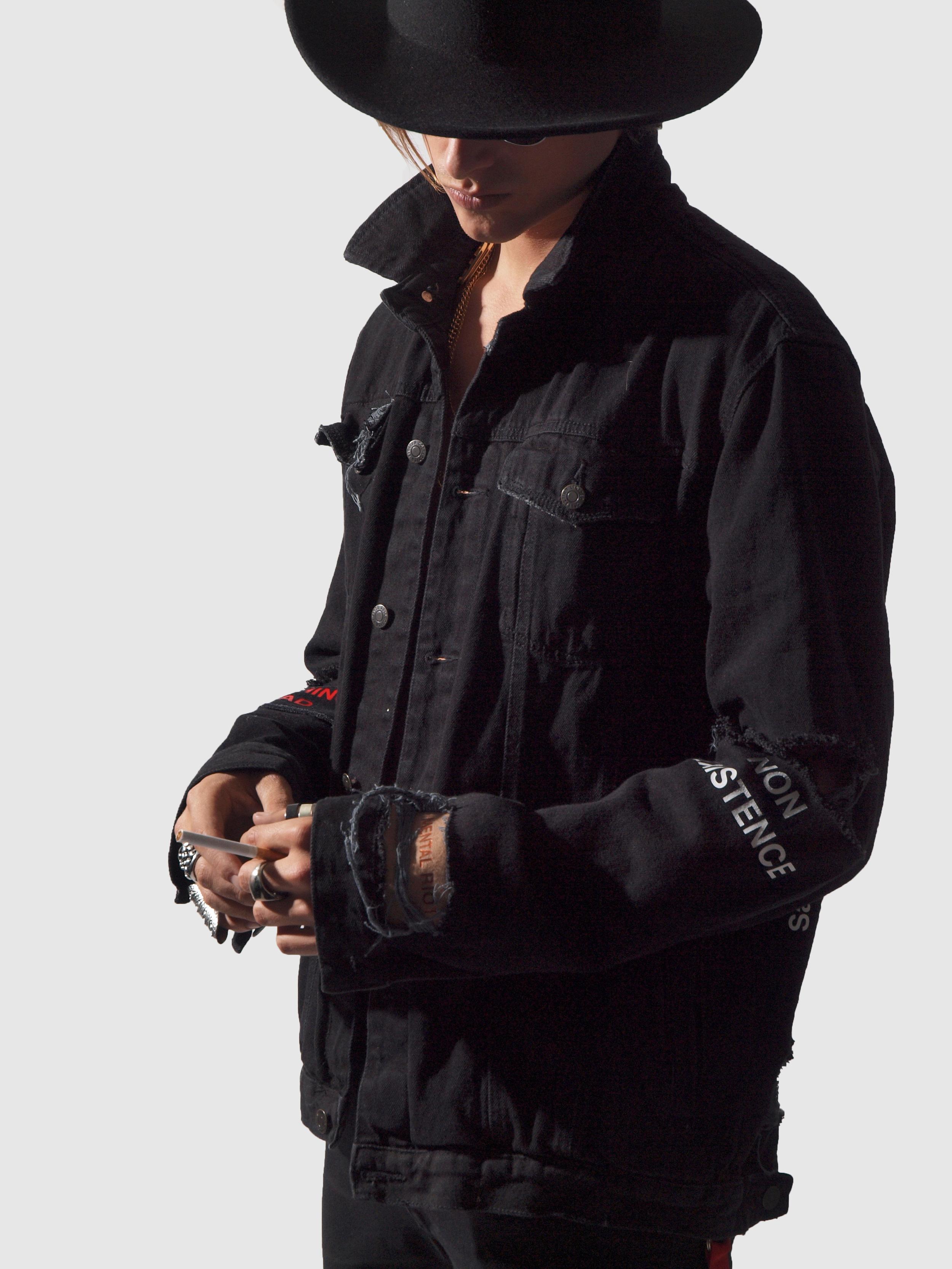 ERIS BLACK - BLACK DENIM JACKET