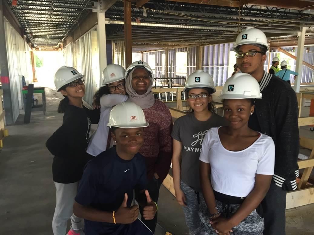 Students Tour Building Site