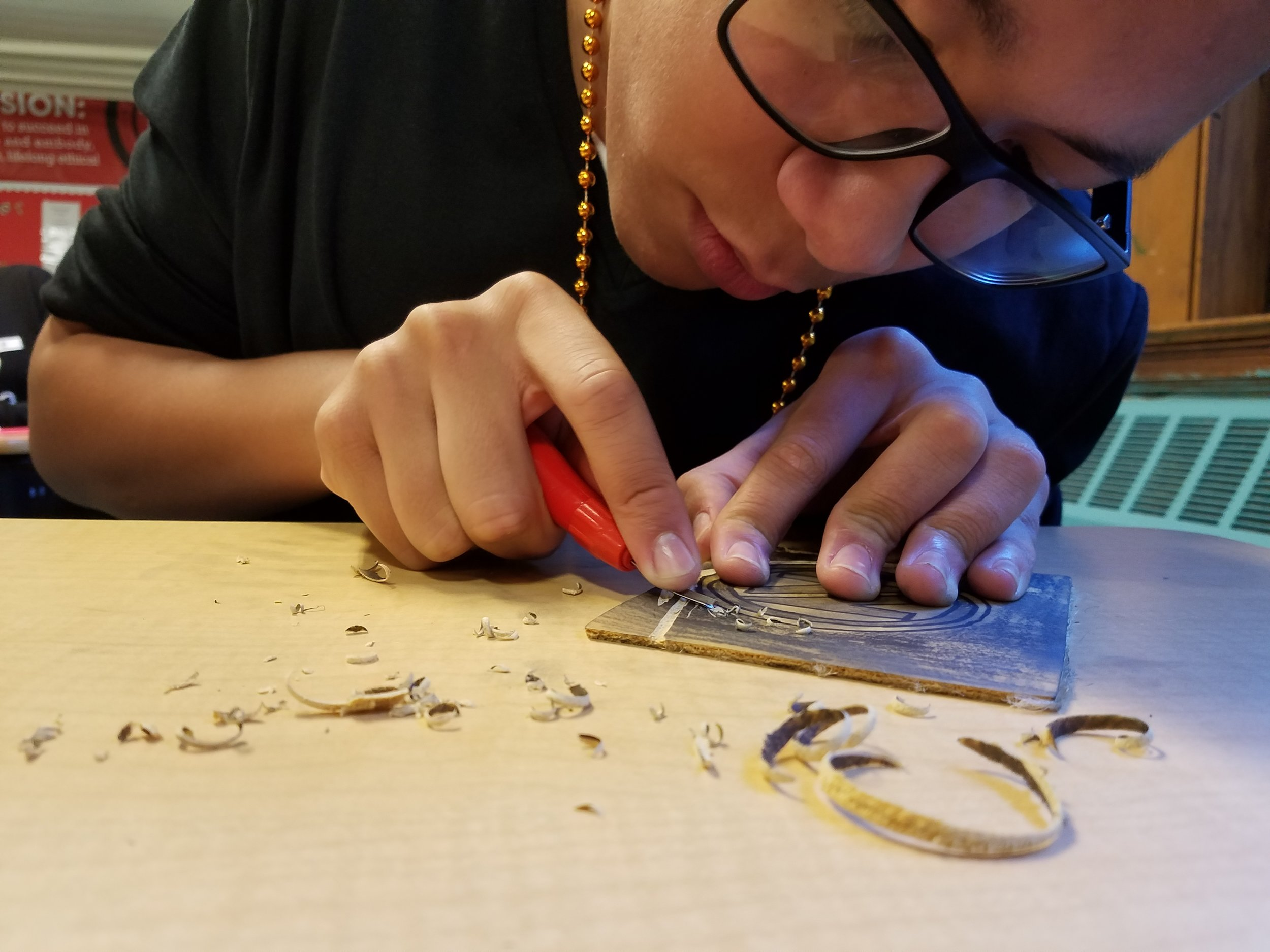 Art classes exposed students to many new techniques.