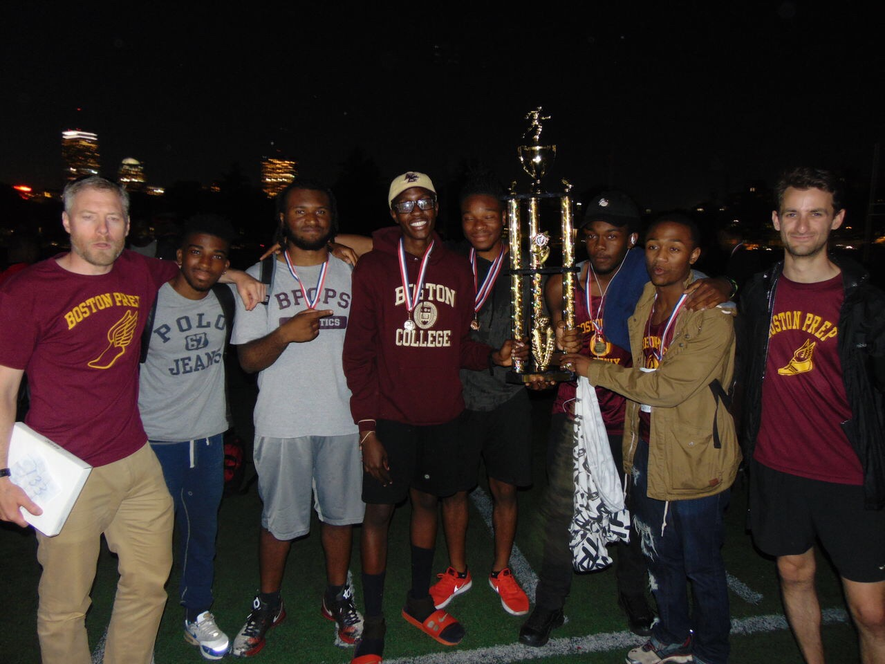 The boys track team brought home the championship title yet again, for the third time in four years.
