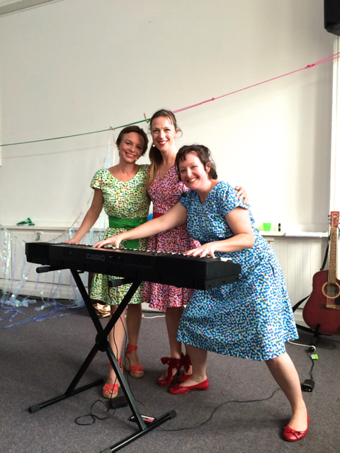 Musical Sprouts' singers (left to right)Bridget, Sharni and Julia