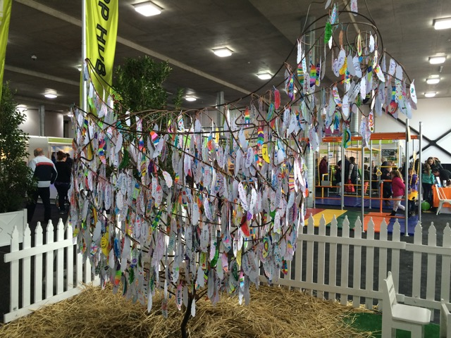 Decorate the giant chook sculpture at the Pets, Garden & Outdoor Living Pavilion