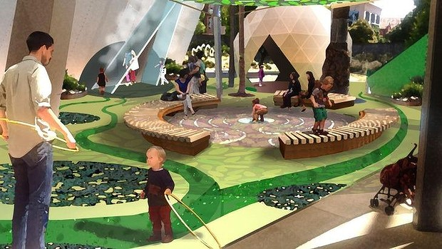 An artist's impression of the garden at Melbourne Museum's redeveloped Children's Gallery.(Credit: Museum Victoria taken from  SMH article dated 3rd August 2015 )