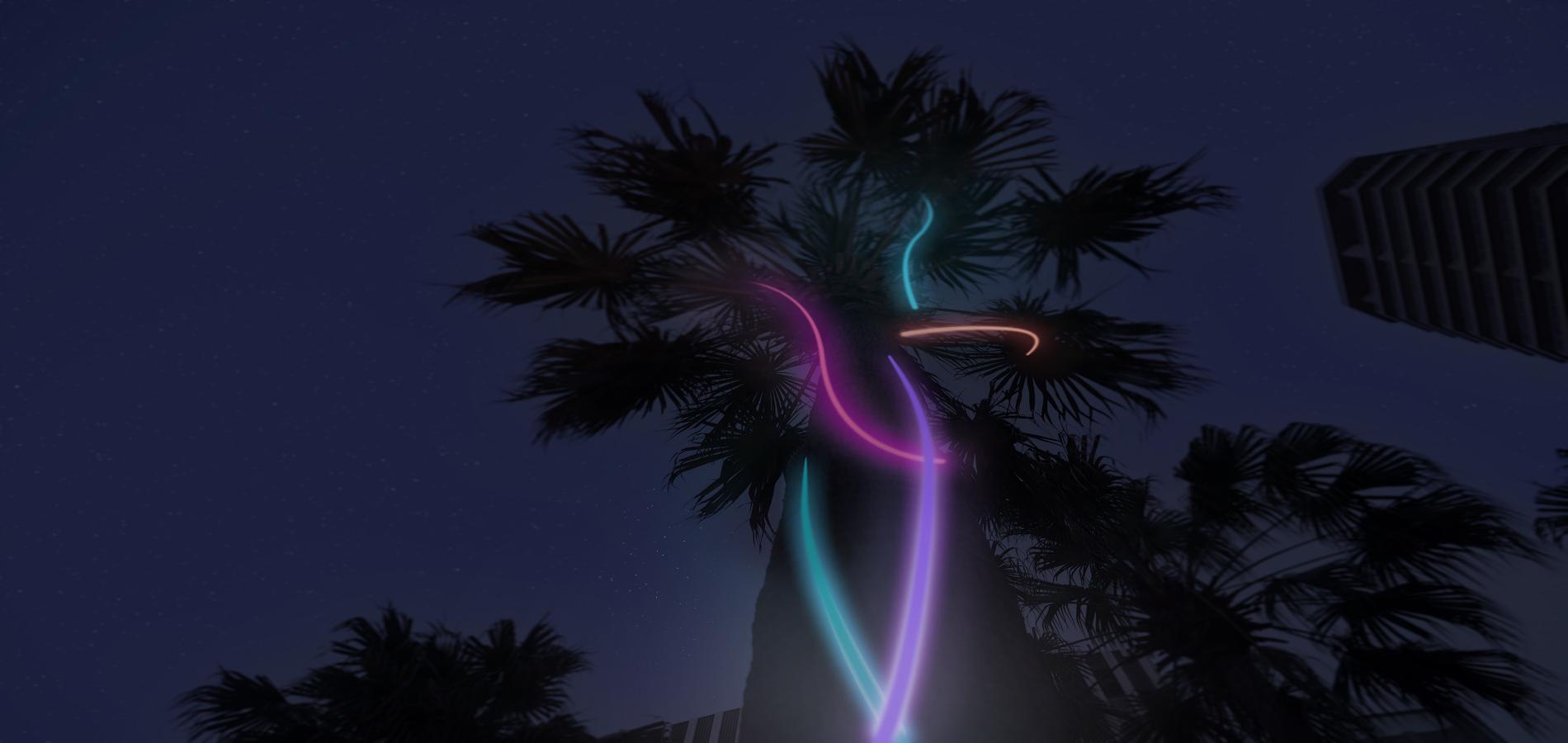 Treehugger - Artist:Ciaran Frame (Australia) -Light Walk Circular Quay - Vivid Sydney 2016 - photo credit: Vivid Sydney Website 2016