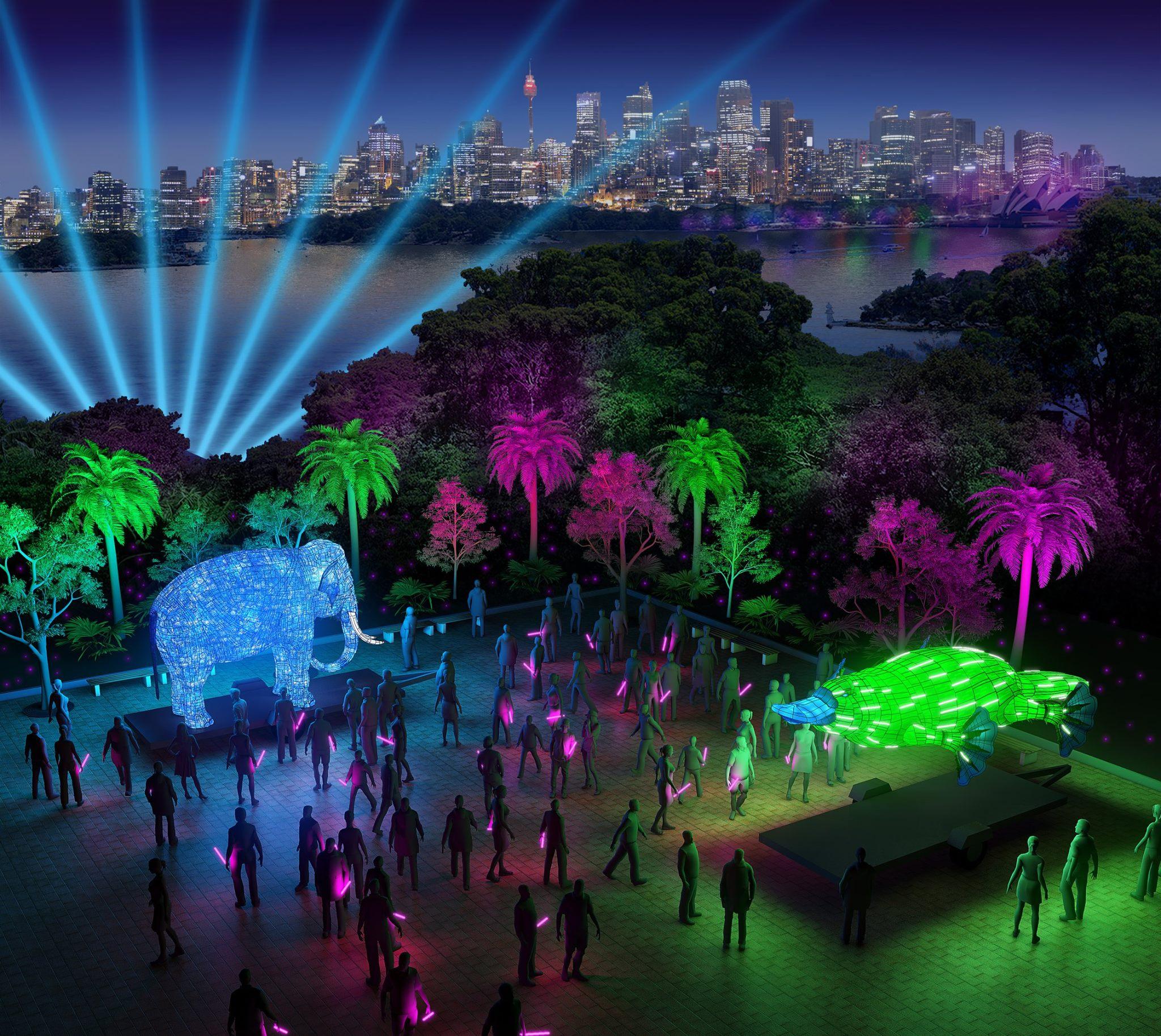 Be The Light For The Wild - Taronga Zoo - Vivid Sydney 2016 - photo credit: Vivid Sydney Website 2016