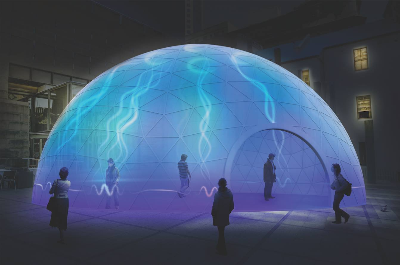 Electric Jellyfish - Artist: Equilibrium Design / Dolby Australia /Sofie Loizou (Australia) -Vivid Sydney 2016 - photo credit: Vivid Sydney Website 2016