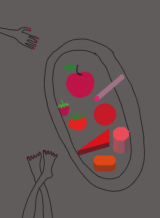 Martí Guixé - Drawing for Fake Food Park: Martí Guixé for Kids, NGV Kids Exhibition, 2016. Photo credit: NGV