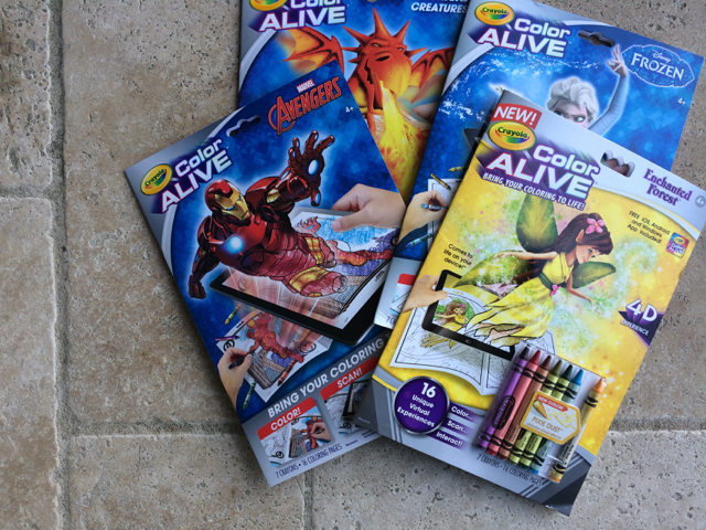 Crayola Color Alive - Marvel Avengers, Mystical Creatures, Disney Frozen and Enchanted Forest