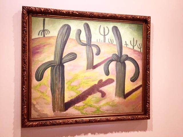 Diego Rivera -Landscape with Cacti 1931 - photo @busycitykids