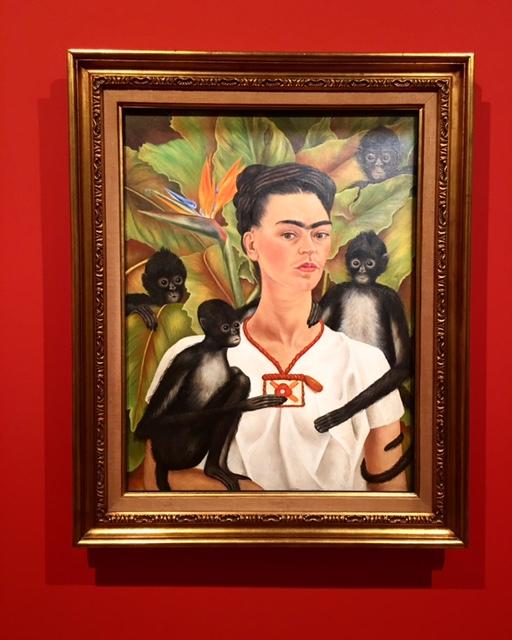 Frida Kahlo -Self-portrait with monkeys 1943 - photo @busycitykids