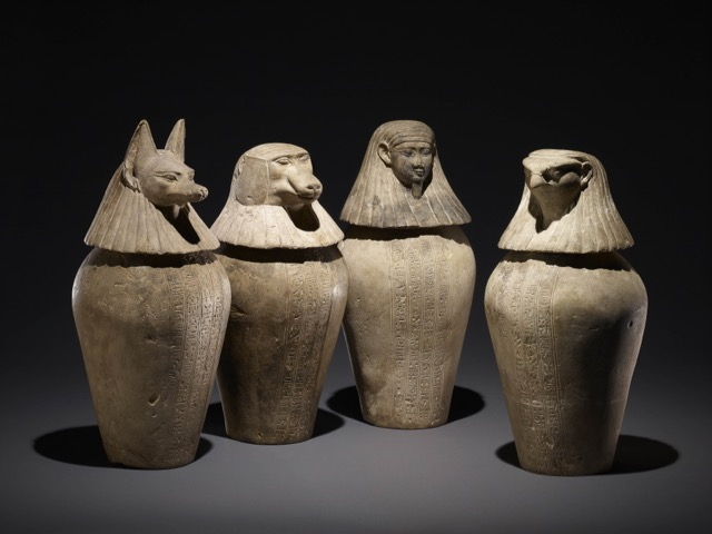 Canopic jars - Trustees of the British Museum