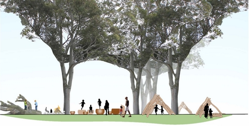 Design element: Wild Play areas and Nature Art Space  Illustration credit: Centennial Parklands