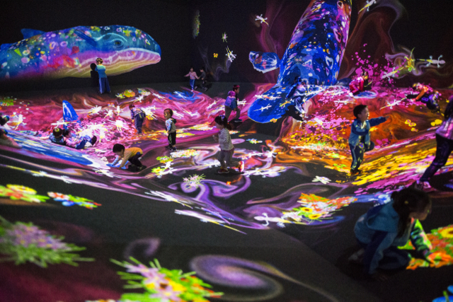 Graffiti Nature - Photo credit: TeamLab