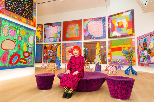Photo credit: hirshhorn - Yayoi Kusama with recent works in Tokyo