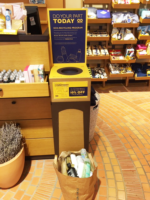 L'Occitane Eco-Recycling Program - Photo credit: @busycitykids