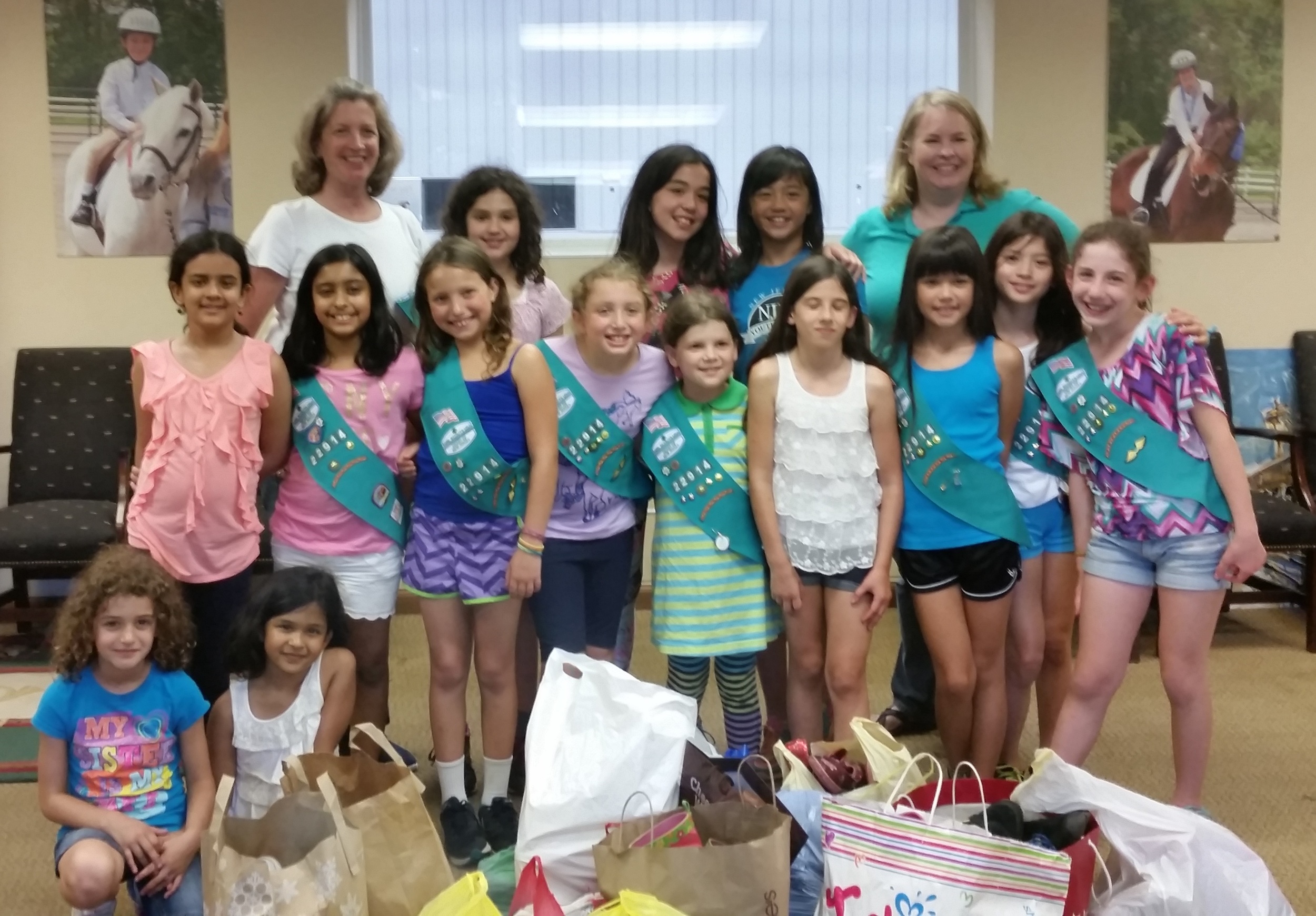 Girl Scout Troop #22914 from Short Hills