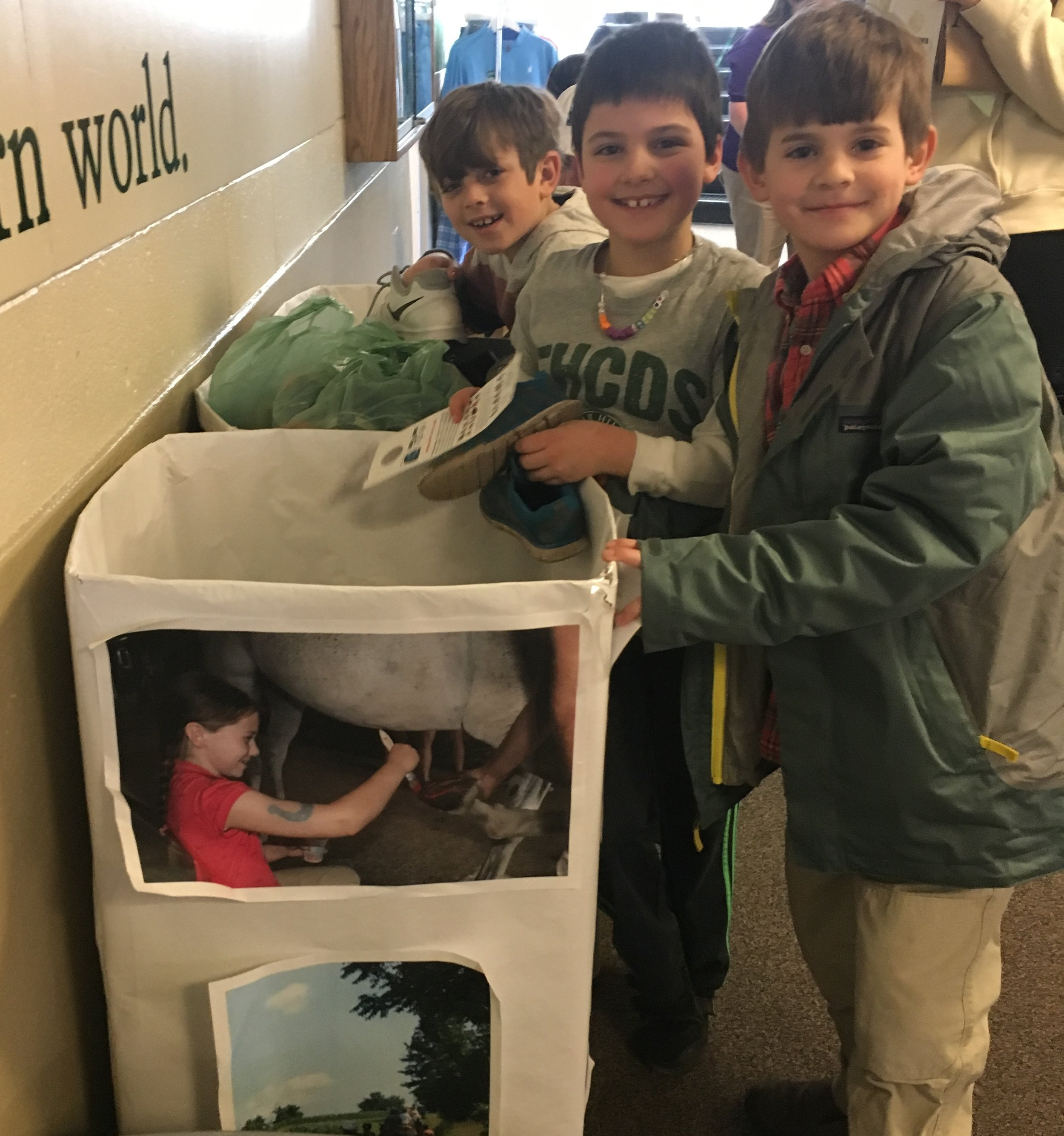 These kids and several more from Far Hills Country Day School helped sort and box 169 pounds during their Community Service Day on February 4th. Thank you!!!