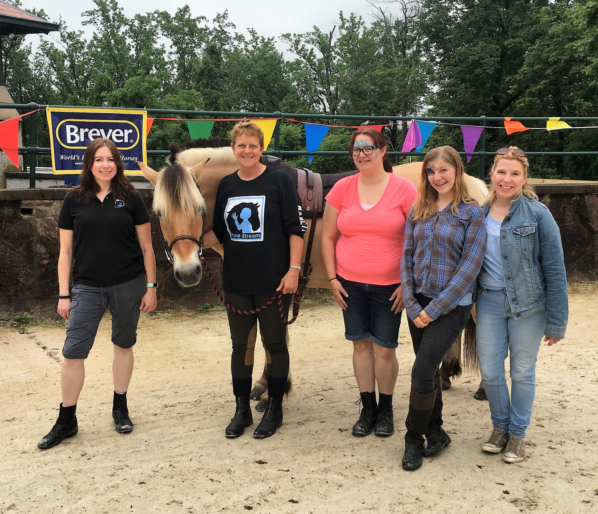 Special thanks to our volunteers Tara Pfunke, Amy Barkman, Samantha Gonzalez, Bridget & Mary Ann Torcivia for all of their help representing Mane Stream at Pony Up 2017!