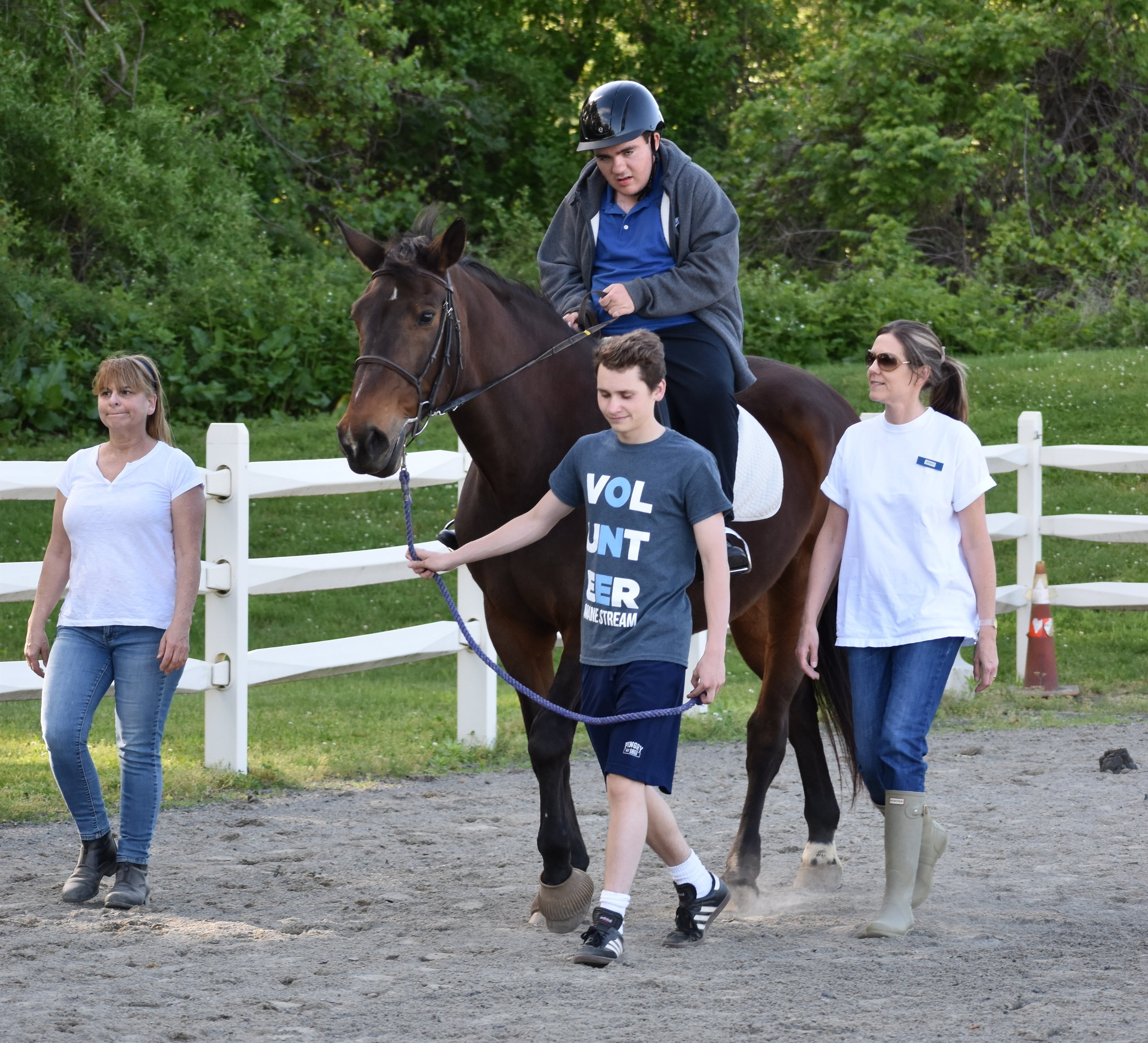 In addition to time spent in the office Will continues to volunteer as a leader for Adaptive Riding Lessons on Tuesdays!