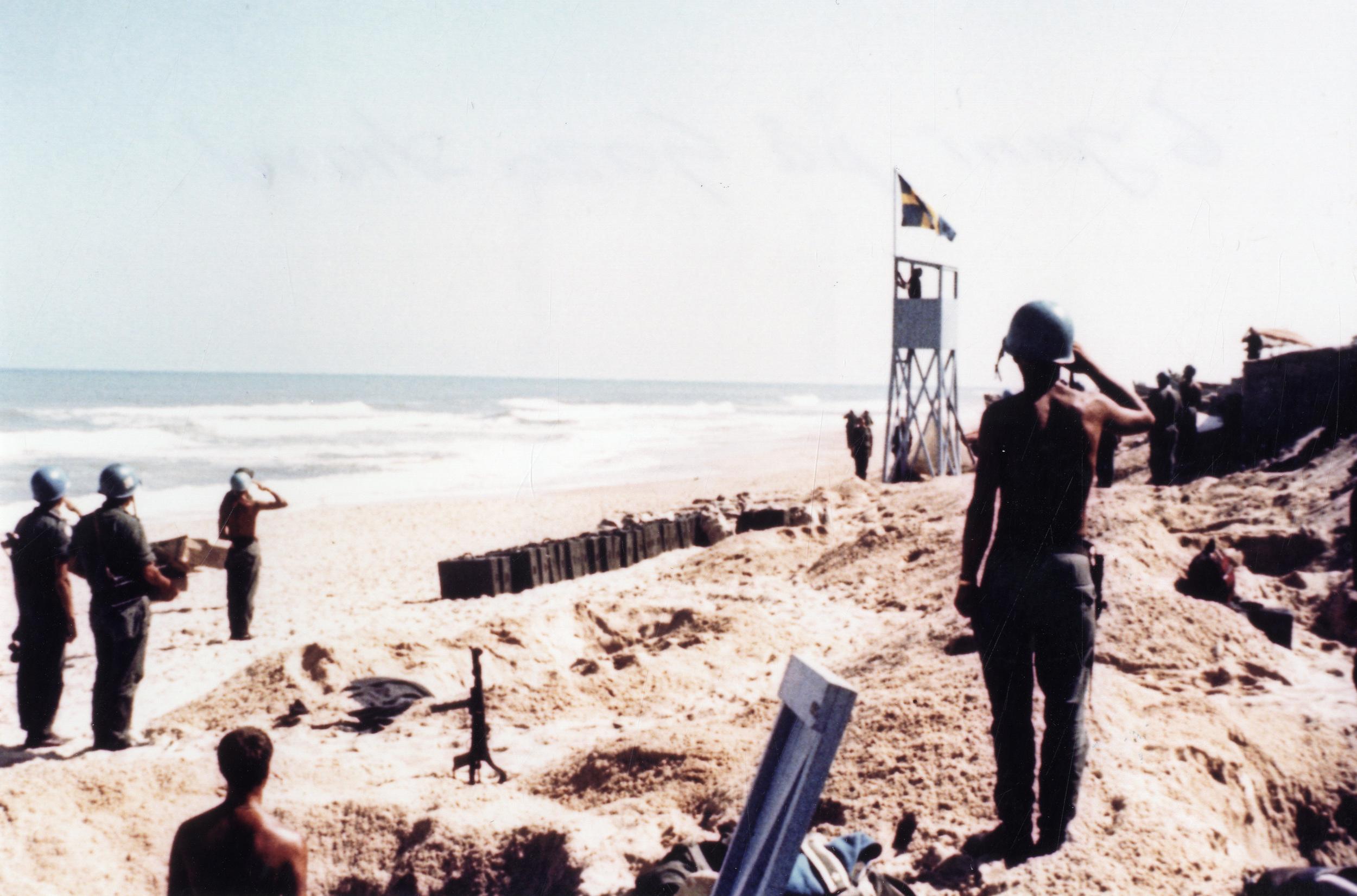 Den 6 juni 1967 på Gaza strand.