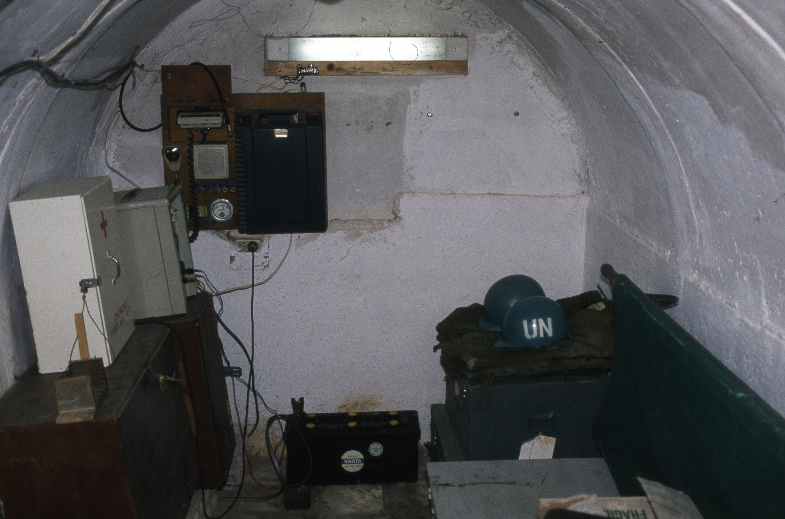 Skyddsrum fanns på alla OP.