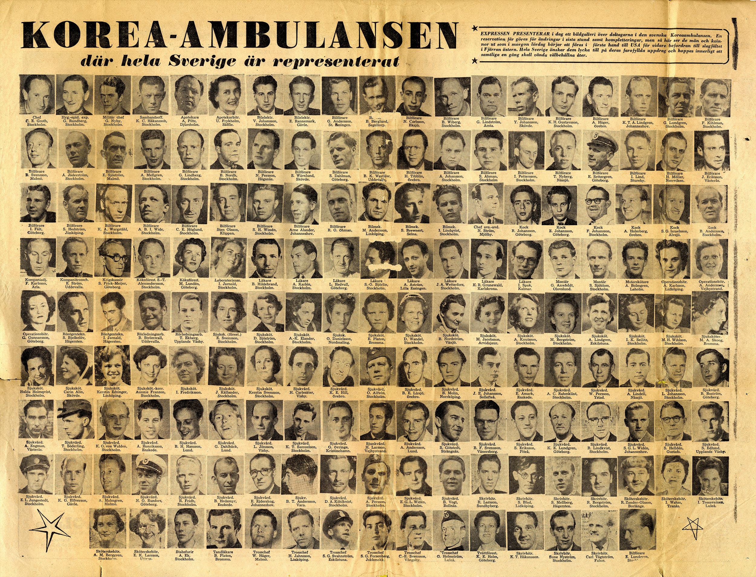 Mittuppslag i i tidningen innan avfärd till Korea (Klicka på bilden för förstoring)  /Källa: Expressen