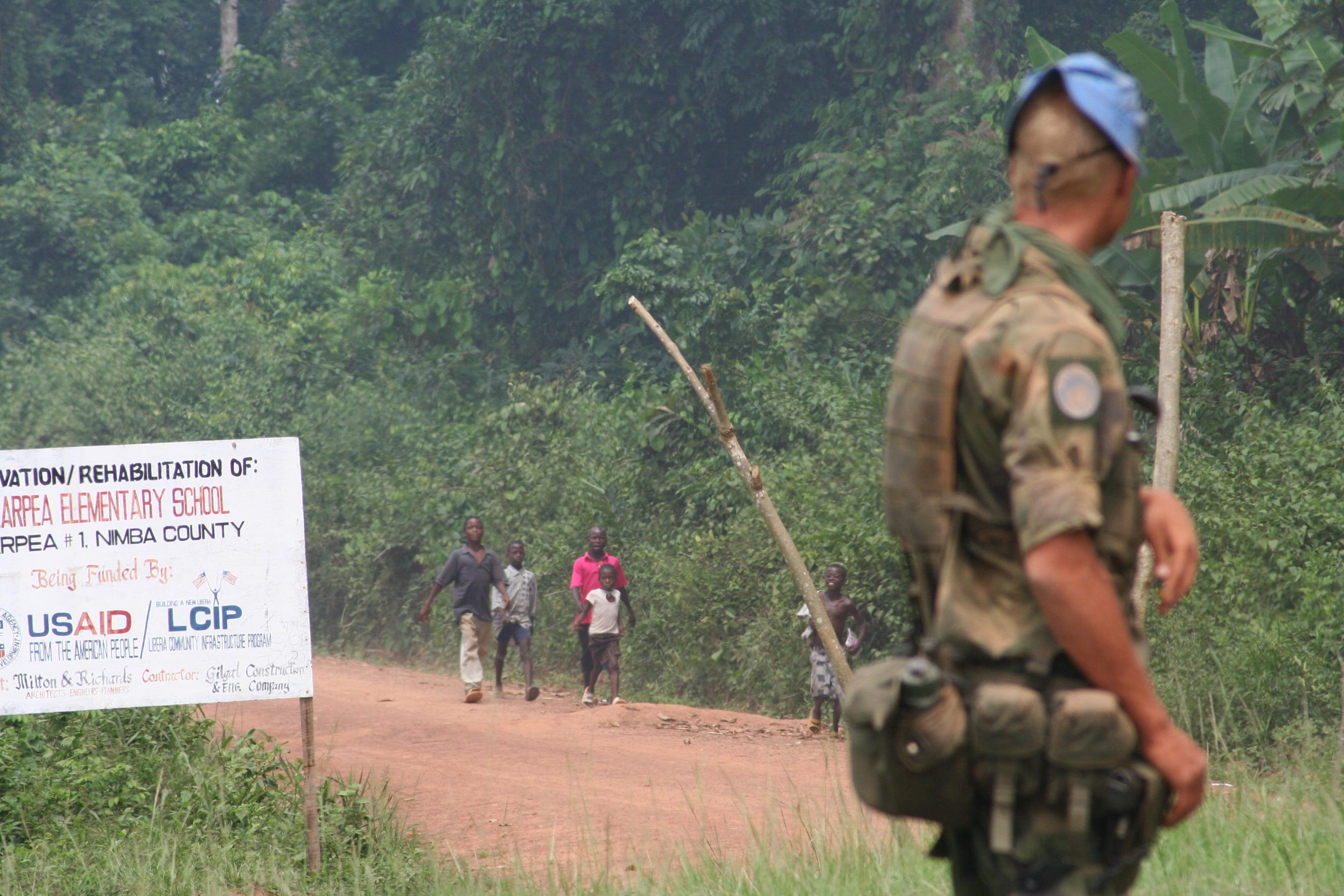 Svensk FN-soldat i Liberia / foto: Mattias Wandler