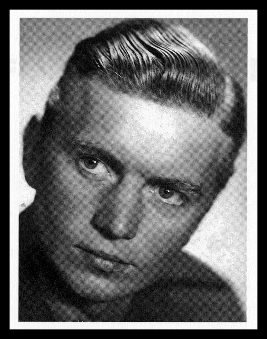 Gösta Hallquist, foto taget från  Löjtnant Hallquists dagbok