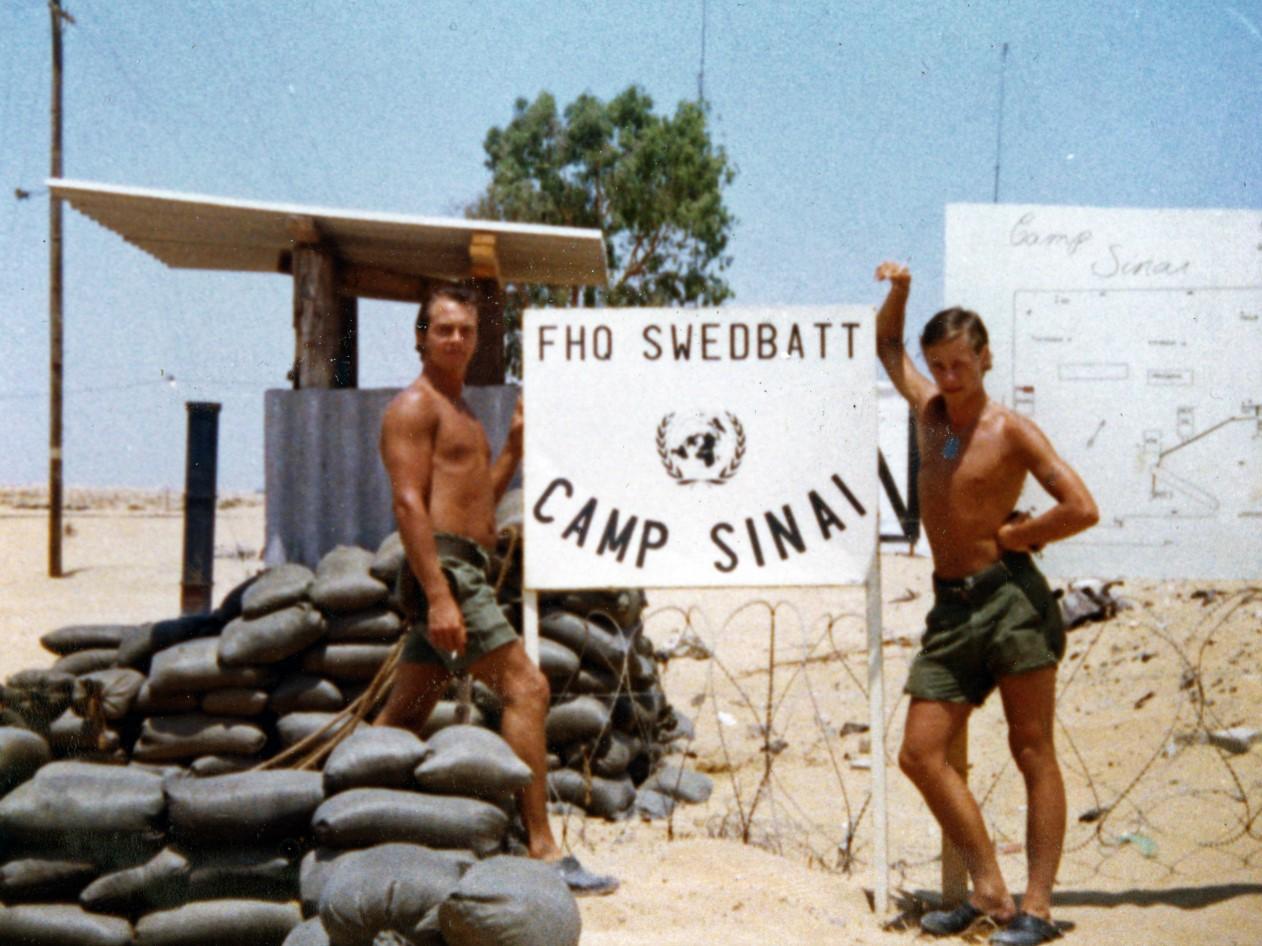 Infarten till Camp Sinai / Foto: Lars-Åke Jansson