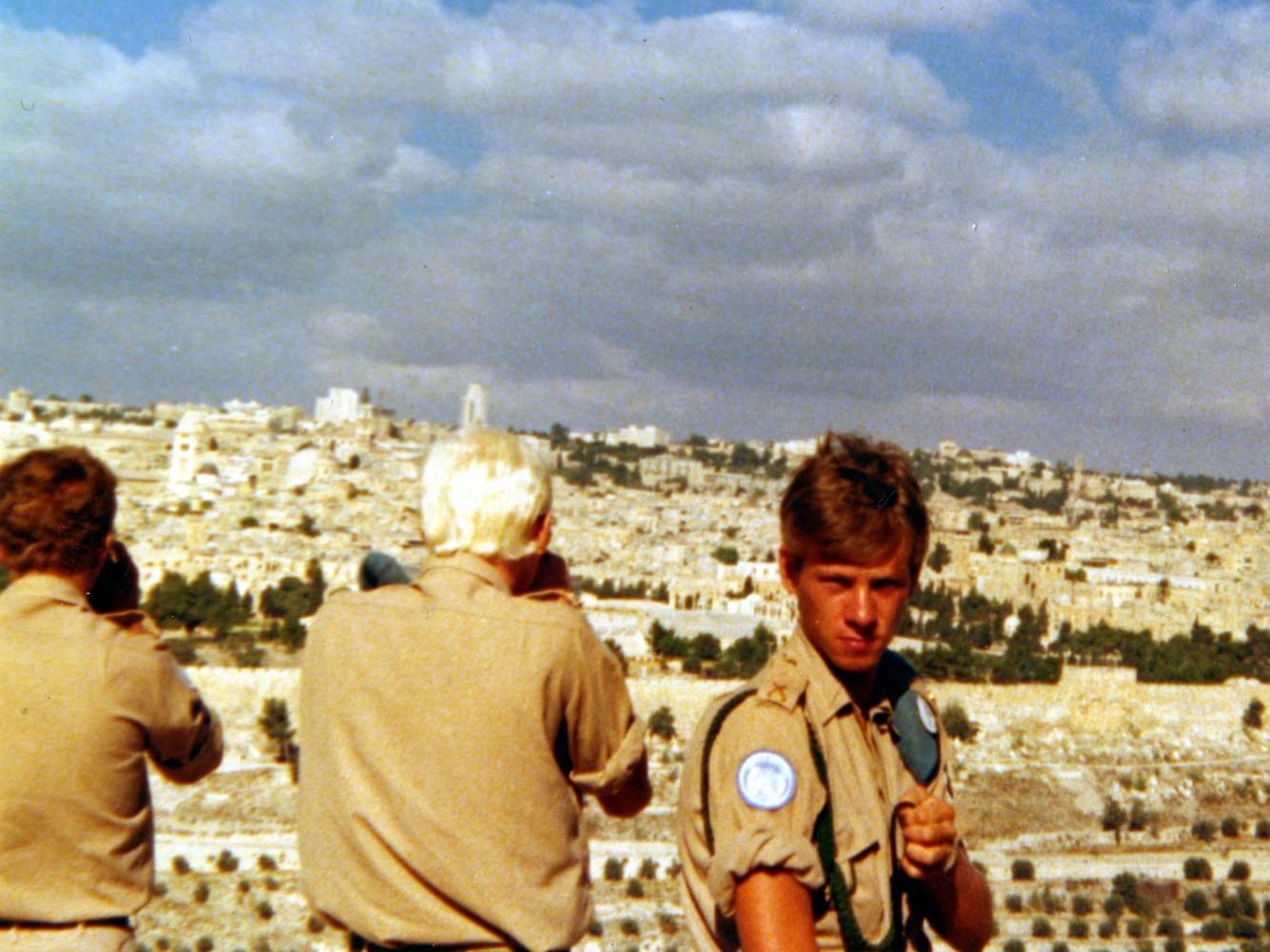 Med Jerusalem i bakgrunden / Foto: Lars-Åke Jansson