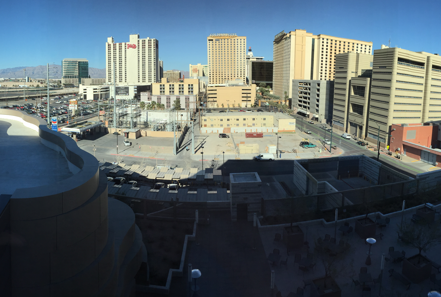 View of site #1from 5th floor of Las VegasCity Hall