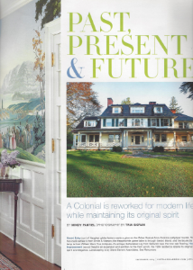"September 2014    Connecticut Cottages & Gardens,   ""Past, Present and Future""    Designer: Paul Rankin    Zuber and de Gournay"