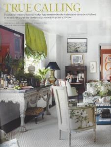 "May 2015    Elle Decor, ""True Calling""    Designer: Kate Rheinstien Brodsky    Gracie Chinoiserie"