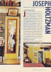 "October 1997  New York Magazine, ""Design Gurus""  Designer: Joseph Holtzman"