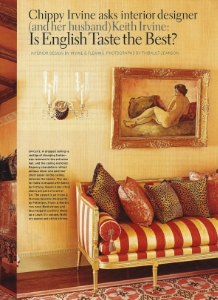 "April 2006  House Beautiful, ""Is English Taste the Best?""  Designer: Keith Irvine"