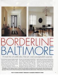 """June-July 1995  Elle Decor, """"Borderline Baltimore""""  Designer: Joseph Holtzman"""