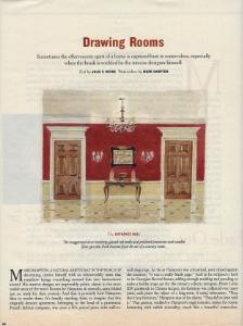 "April 1996  New York Times Magazine, ""Drawing Rooms""  Designer: Mark Hampton"