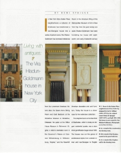 "April 2003  Antiques Magazine, ""Living with Antiques: the Vira Hladun-Goldmann House"""