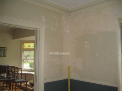 After wallpaper removal, before restoration