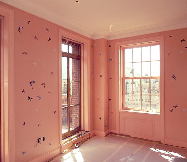 Original installation in a girl's bedroom