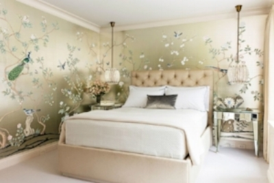 de Gournay Chinoiserie   Click on the photo to see more examples of scenic wallpaper installations