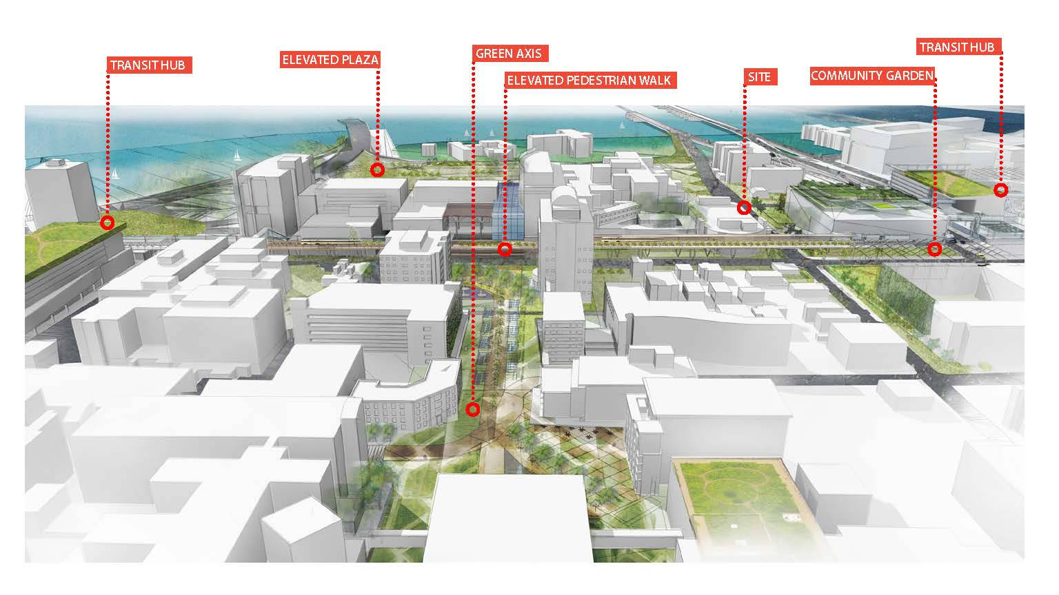 Visualizing Urban Strategies for MUSC - Penninsula View [West]