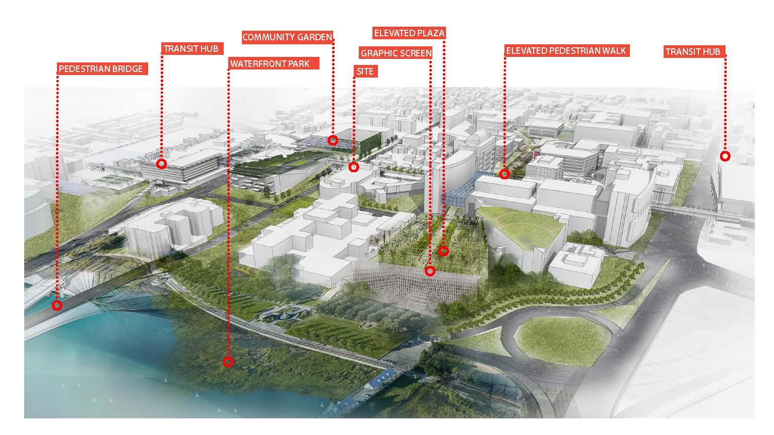 Visualizing Urban Strategies for MUSC - From the water [East]